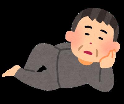前立腺マッサージの姿勢イラスト