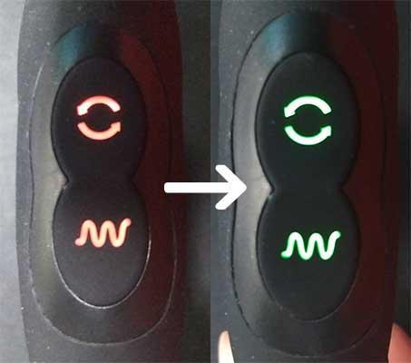 ネクサスレボ・エンブレイスの電源ボタンの色の変化